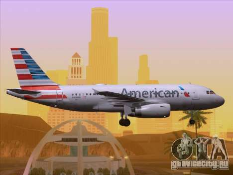 Airbus A319-112 American Airlines для GTA San Andreas салон