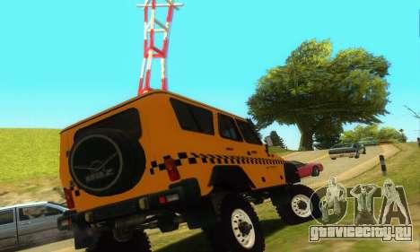 УАЗ Hunter Такси для GTA San Andreas вид справа