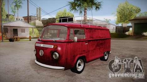 Volkswagen Transporter T2 Custom для GTA San Andreas вид сбоку