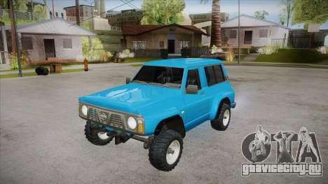 Nissan Patrol Y60 для GTA San Andreas вид сверху