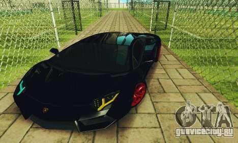 Lamborghini Aventador LP700 для GTA San Andreas вид сбоку