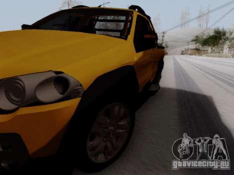 Fiat Strada Adv Locker для GTA San Andreas вид справа
