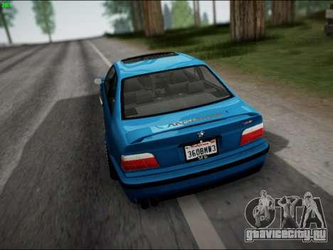 BMW M3 E36 Stance для GTA San Andreas вид снизу