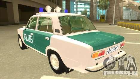 VAZ 21011 DDR police для GTA San Andreas вид сзади