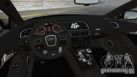Audi RS5 2011 v2.0 для GTA 4 вид сверху