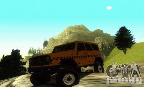 УАЗ Hunter Такси для GTA San Andreas вид слева