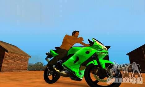 Kawasaki Ninja 150RR для GTA San Andreas вид справа
