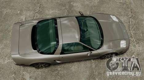 Acura NSX для GTA 4 вид справа