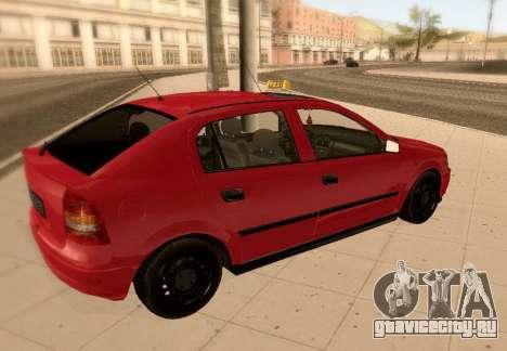 Opel Astra G для GTA San Andreas вид сбоку