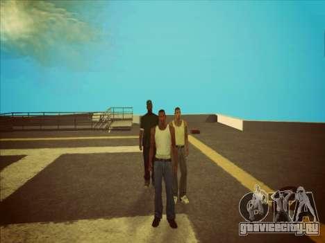 Переключение между героями как в GTA V 2.0 для GTA San Andreas