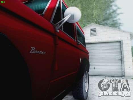 Ford Bronco 1966 для GTA San Andreas вид сбоку