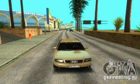 Audi A6 (C5) Avant для GTA San Andreas вид снизу