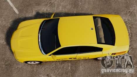 Dodge Charger 2011 Taxi для GTA 4 вид справа