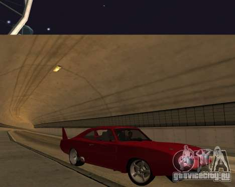 Dodge Charger Daytona для GTA San Andreas вид сверху