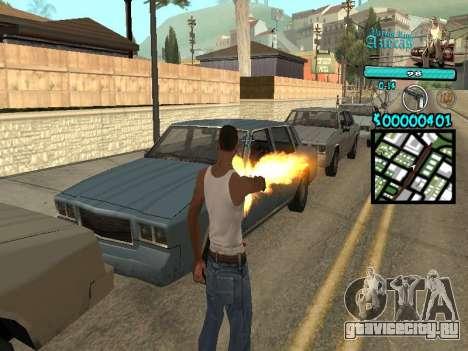 C-HUD by Kerro Diaz [ Aztecas ] для GTA San Andreas второй скриншот
