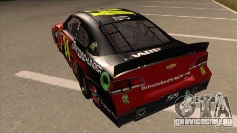 Chevrolet SS NASCAR No. 24 AARP для GTA San Andreas вид сзади