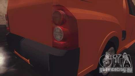 Chevrolet Montana Combo для GTA San Andreas вид сзади