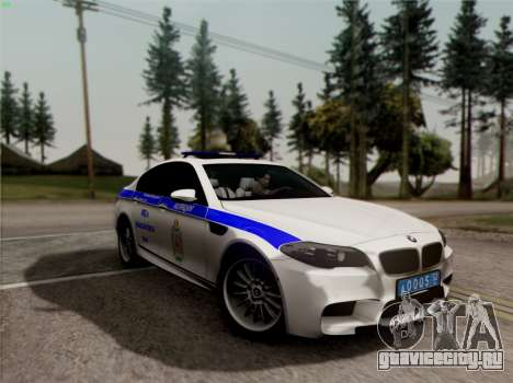 BMW M5 F10 УМВД для GTA San Andreas вид сбоку