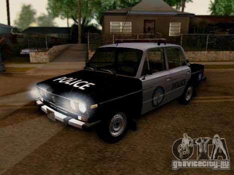 ВАЗ 2106 Полиция Лос Сантос для GTA San Andreas вид изнутри