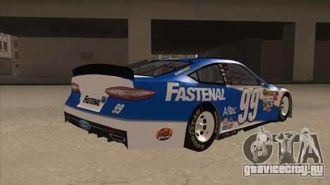 Ford Fusion NASCAR No. 99 Fastenal Aflac Subway для GTA San Andreas вид справа