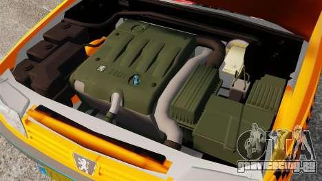 Peugeot 405 GLX Taxi для GTA 4 вид изнутри