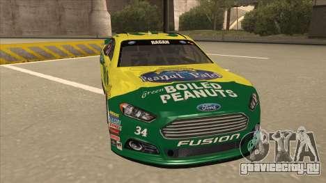 Ford Fusion NASCAR No. 34 Peanut Patch для GTA San Andreas вид слева