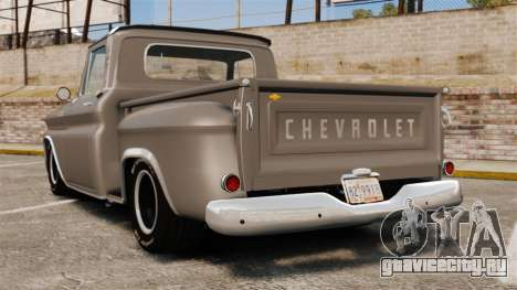 Chevrolet C-10 Stepside v2 для GTA 4 вид сзади слева