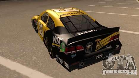 Chevrolet SS NASCAR No. 39  Wix Filters для GTA San Andreas вид сзади