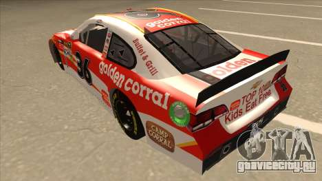 Chevrolet SS NASCAR No. 36 Golden Corral для GTA San Andreas вид сзади