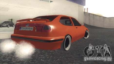 Seat Cordoba SX для GTA San Andreas вид сзади слева