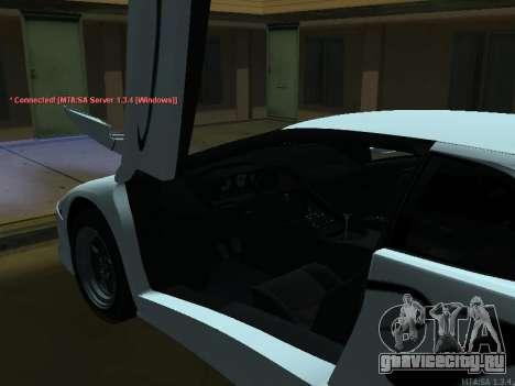 Lamborghini Diablo SV v2 для GTA San Andreas вид сзади