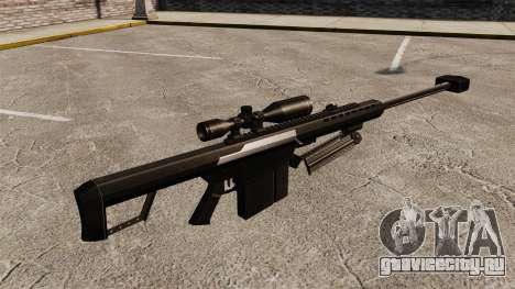 Снайперская винтовка Barrett M82 v2 для GTA 4 второй скриншот
