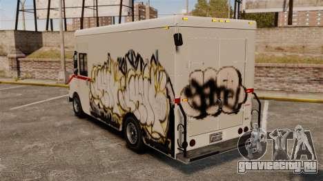 Новые граффити для Boxville для GTA 4 вид сзади слева