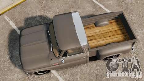 Chevrolet C-10 Stepside v2 для GTA 4 вид справа