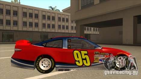 Ford Fusion NASCAR No. 95 для GTA San Andreas вид сзади слева