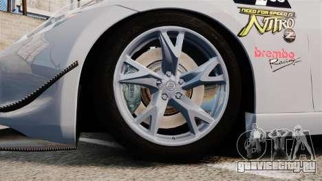 Nissan 370Z для GTA 4 вид сзади