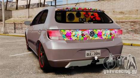Volkswagen Gol Rally 2012 Socado Turbo для GTA 4 вид сзади слева