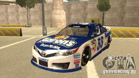 Toyota Camry NASCAR No. 55 Aarons DM white-blue для GTA San Andreas