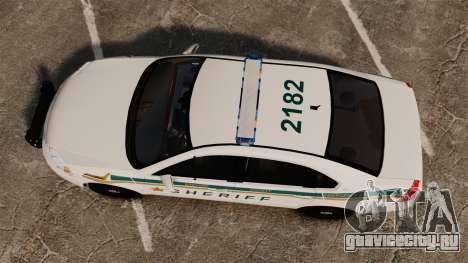 Chevrolet Impala BCSD 2010 [ELS] для GTA 4 вид справа