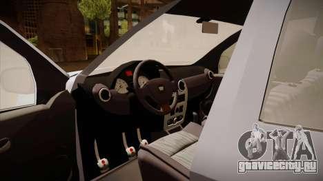 Dacia Duster Elite для GTA San Andreas вид изнутри