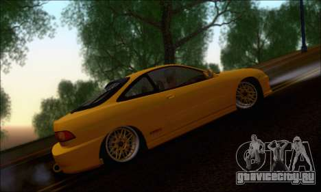 Honda Integra Type-R Hellaflush для GTA San Andreas вид сзади слева