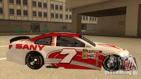 Chevrolet SS NASCAR No. 7 Sany для GTA San Andreas вид сзади слева