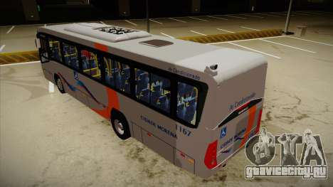 Marcopolo Senior Midi MB OF 1418 Cidade Morena для GTA San Andreas вид сзади