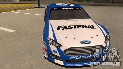 Ford Fusion NASCAR No. 99 Fastenal Aflac Subway для GTA San Andreas вид слева
