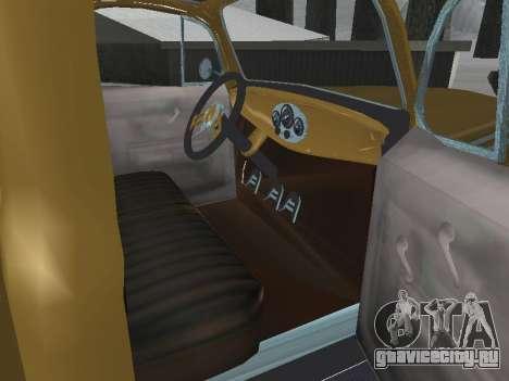 Ford Frieghter 1949 для GTA San Andreas вид изнутри