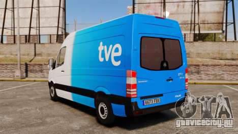 Mercedes-Benz Sprinter Spanish Television Van для GTA 4 вид сзади слева