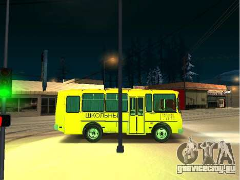 ПАЗ 32053-70 Школьный для GTA San Andreas вид сзади слева