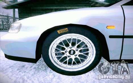 Honda Accord Wagon для GTA San Andreas вид снизу