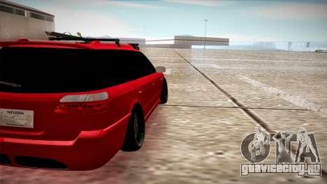 Subaru Legacy Wagon Hellaflush для GTA San Andreas вид сзади слева