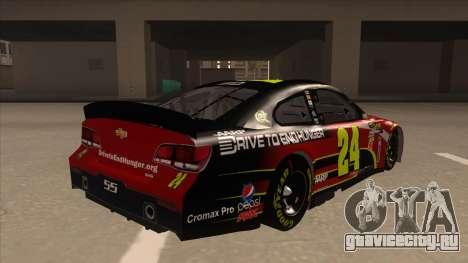 Chevrolet SS NASCAR No. 24 AARP для GTA San Andreas вид справа